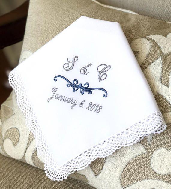 Monogrammed Wedding Handkerchief Embroidered Handkerchief Etsy Embroidered Handkerchief Wedding Monogrammed Wedding Handkerchief Wedding Handkerchief