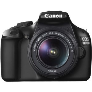 Canon EOS 1100D SLR-Digitalkamera (12 Megapixel, 6,9 cm (2,7 Zoll) Display, HD-Ready, Live-View) Kit inkl. EF-S 18-55mm 1:3,5-5,6 IS II