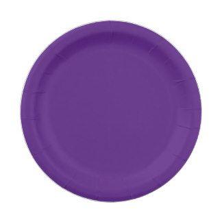 Custom Purple Paper Plate 7 Inch Paper Plate