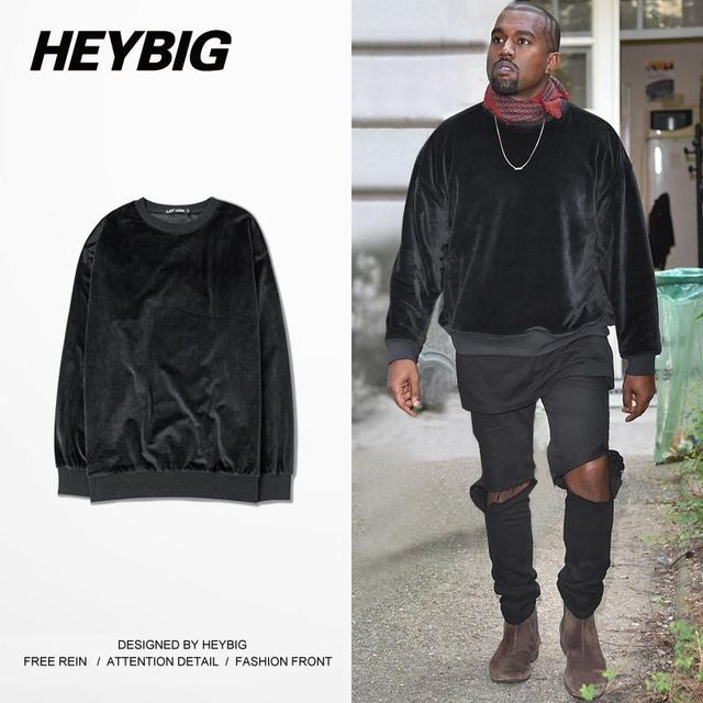 Buy now Velvet Mens Hoodie KANYE WEST Crew Neck Brand Sweatshirts Rap High Street Tracksuits Fashion Autumn Sudaderas Masculinas S-2XL just only $22.00 with free shipping worldwide  #hoodiessweatshirtsformen Plese click on picture to see our special price for you