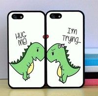 This is a beautiful set of 2 Phone cases for Couples. Could be given as an amazing gift .so cute #Trexproblems