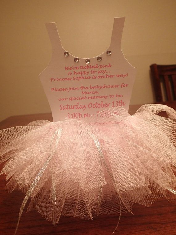 Ballerina Invitations, I could totally make these!.