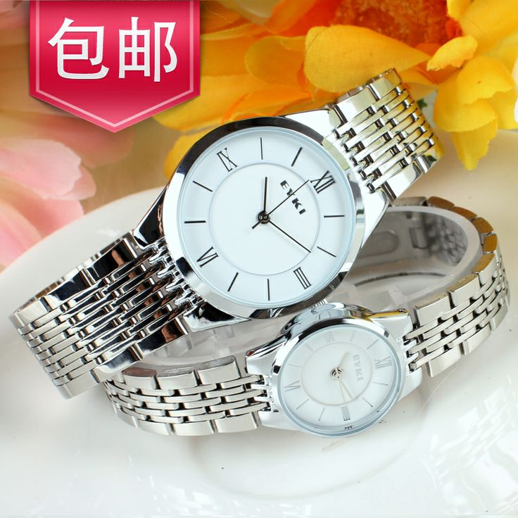Free shipping Watch ultra-thin lovers watches Couple Watch ...