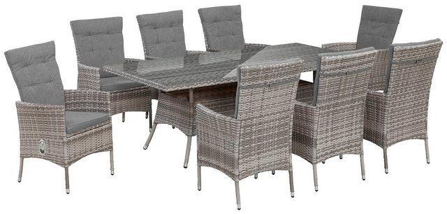 Gartenmobelset Belluno 17 Tlg 8 Sessel Tisch 200x100 Cm
