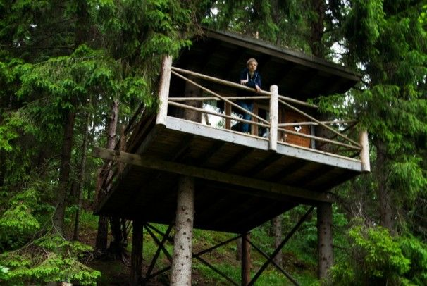 Tree Top Experience in Naturbyn, Region #Värmland am See Eldan © Naturbyn - http://www.nordicmarketing.de/naturbyn-erlebnisse-in-natur/