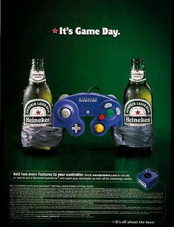 it 39 s game day gamecube x heineken advertising commercial pinterest game and heineken. Black Bedroom Furniture Sets. Home Design Ideas