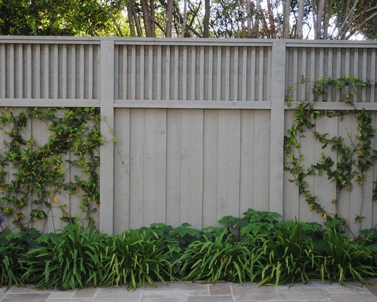 Privacy Fence Design,how to tie in fence styles old and new and to add privacy…