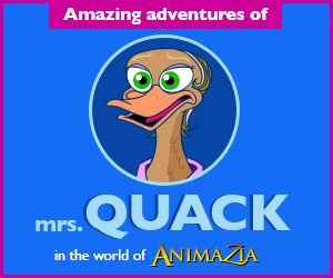 MrsQuack.com Stories, Fun and Educational Videos for kids. Teach children about Environment. Part of the world of Animazia.com