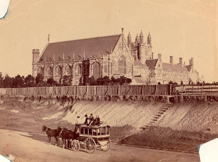 Sydney University as viewed from Parramatta Road in the early 1870s