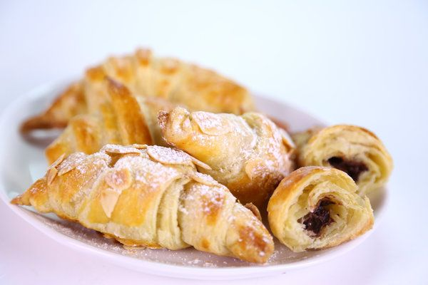 Chocolate almond croissants : so easy to make! Try substituting chocolate and marzipan with Nutella or cookie butter. yum!