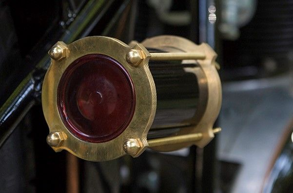 Brass tail light made for a 1968 BSA #custommotorcycles #BSA