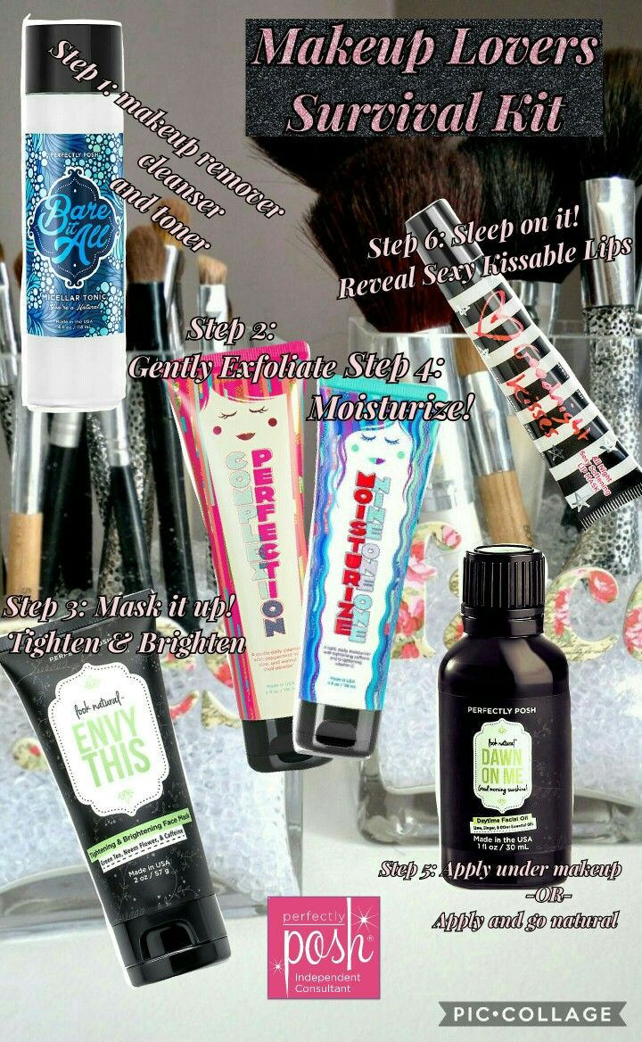 Makeup Loves unite!  Regardless on what brand of makeup you wear you need a routine to clear out your face from harmful ingredients.  Perfectly Posh is the answer.  Naturally based pampering products,  no animal testing,  sulfate and paraben free!  Https:haleighalbertson.po.sh