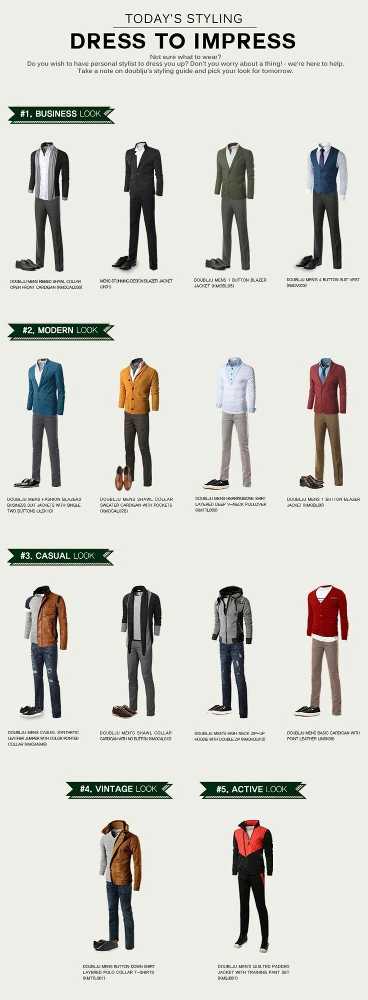 Sport Casual - Referencias. Business Casual - Referencias. Smart Casual - Referencias.