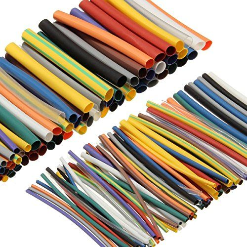 SOLOOP 144pcs Heat Shrink Tubing Tube Shrinkable Sleeving Wire Wrap Electrical Cable Tube 12 Color 6 Size