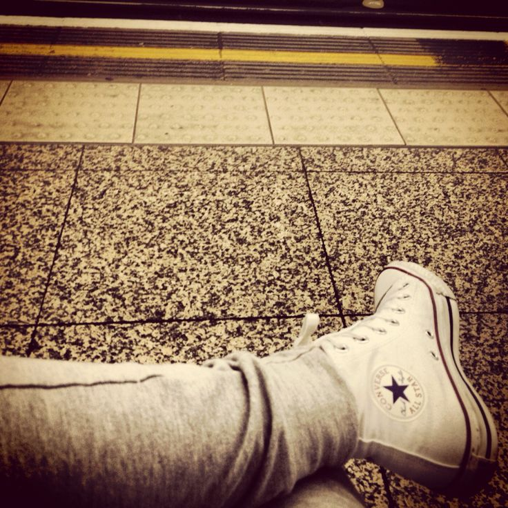 Tube station white converse legs