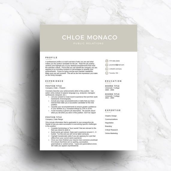 Gray Cv Template For Word Pages 1 2 3 Page With Cover Letter