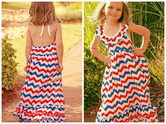 Girls 4th Of July Dress // Girls 4th Of July by AdalynsBoutique, $32.99