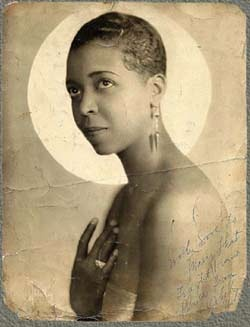 Ethel Waters sporting a close crop style, awesome, now that's glamour, not everyone can rock a short style, she has a beautiful face flawless skin.  This is before Photoshop.