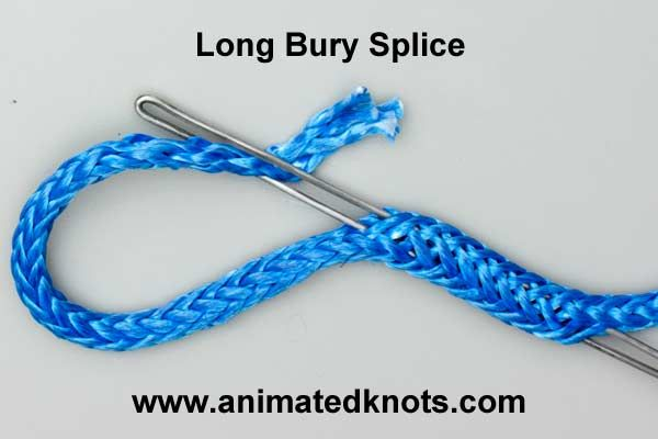 Long Bury Splice | How to Splice a hollow braid Rope | Splicing Knots