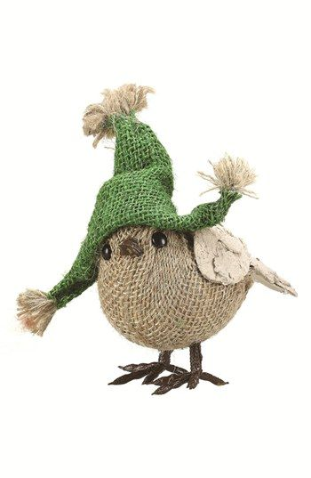 Creative Co-Op Jute Bird with Hat Decoration available at #Nordstrom #BHGRE…