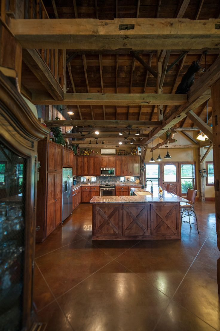 pole barn home interior 25 best ideas about stained cement floors on 21315