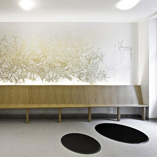 D-Vision Dental Clinic Interiors with Graffiti Wall by A1Architects - House Design On-line