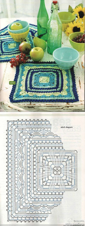 crochet square chart: