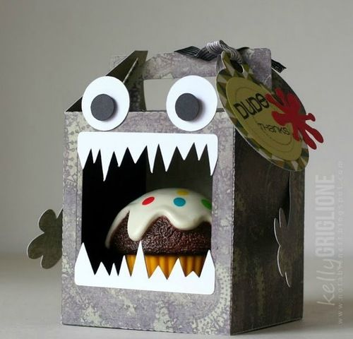 Упаковка монстр для кекса
