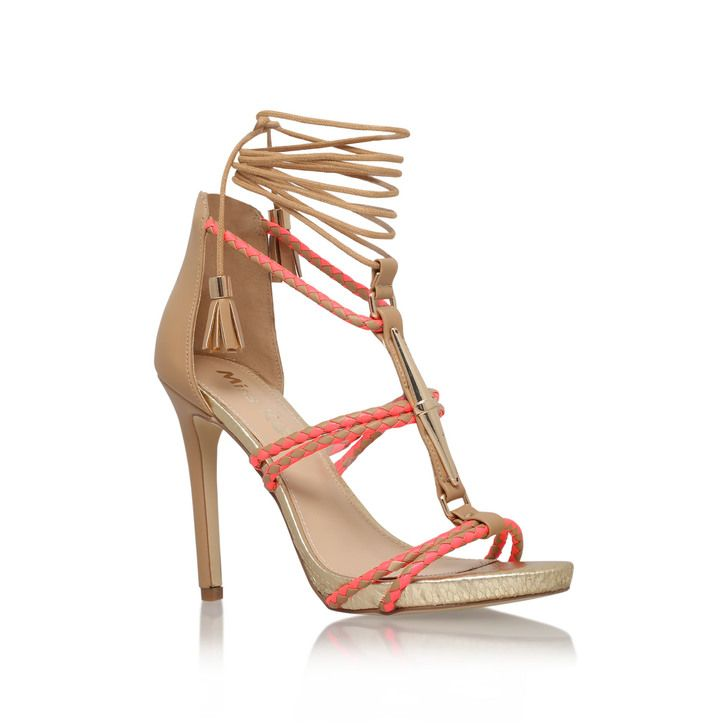 Geranium Multi Coloured High Heel Sandals By Miss KG   Kurt Geiger