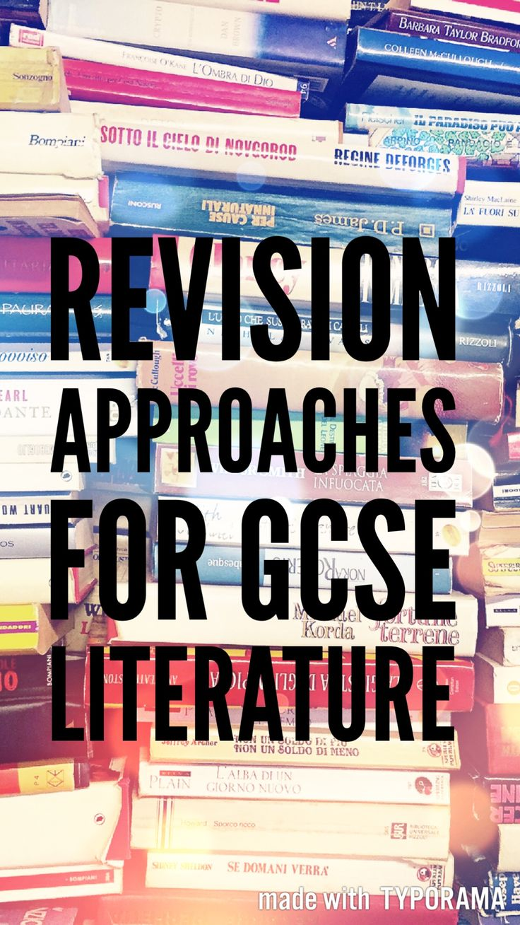 Approaches to GCSE Literature revision  || Ideas and inspiration for teaching GCSE English || www.gcse-english.com ||