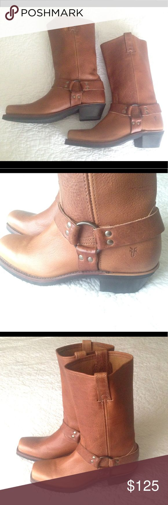 FRYE Brown Cowboy BOOTS NWT FRYE Brown Cowboy Boots NWT Brand new woman's boots. Excellent quality, thick rugged soles, soft comfortable leather. Great for a bohemian look or with summer dresses, denim shorts or skinny jeans.        9 1/2 Wide Frye Shoes