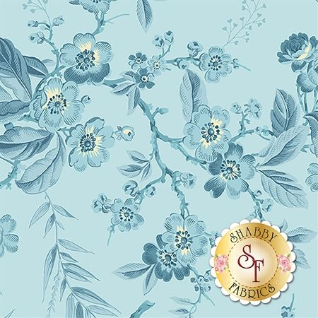 Something Blue A-8822-W by Edyta Sitar from Andover Fabrics: Something Blue is a beautiful collection by Edyta Sitar for Andover Fabrics.Width: 43