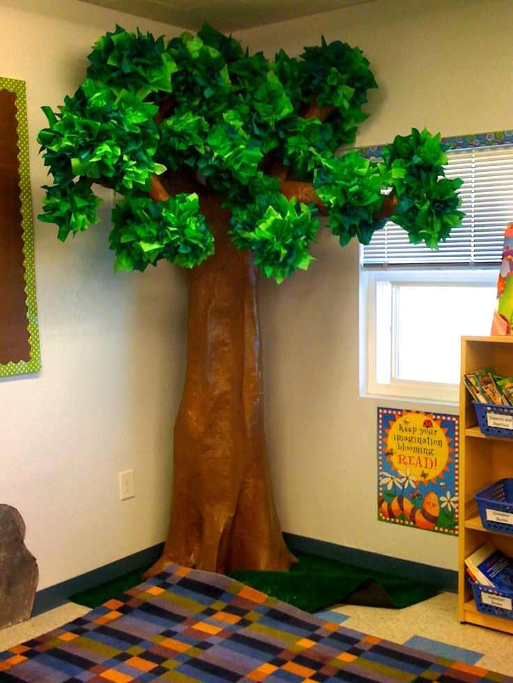 Our 3-D Tree for My Forest Explorer Theme! Took forever to make, but it was worth it!
