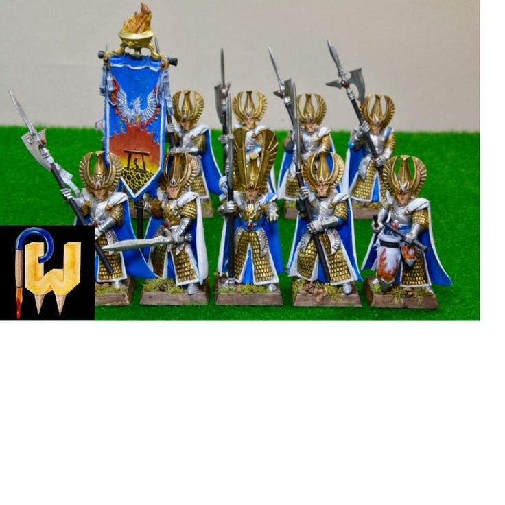 Warhammer Army Age of Sigmar AOS High Elf Elves Phoenix Guard Painted