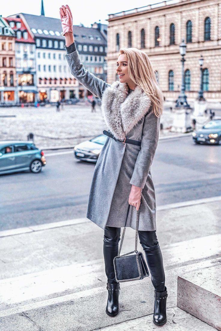 Heute zeige euch ich meine neueste Entdeckung: grauer Mantel und Tipps zum Kombinieren.