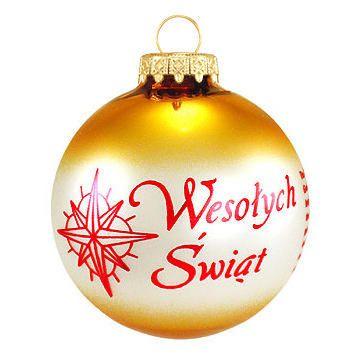 Polish Christmas Ornament - Wesołych Świąt