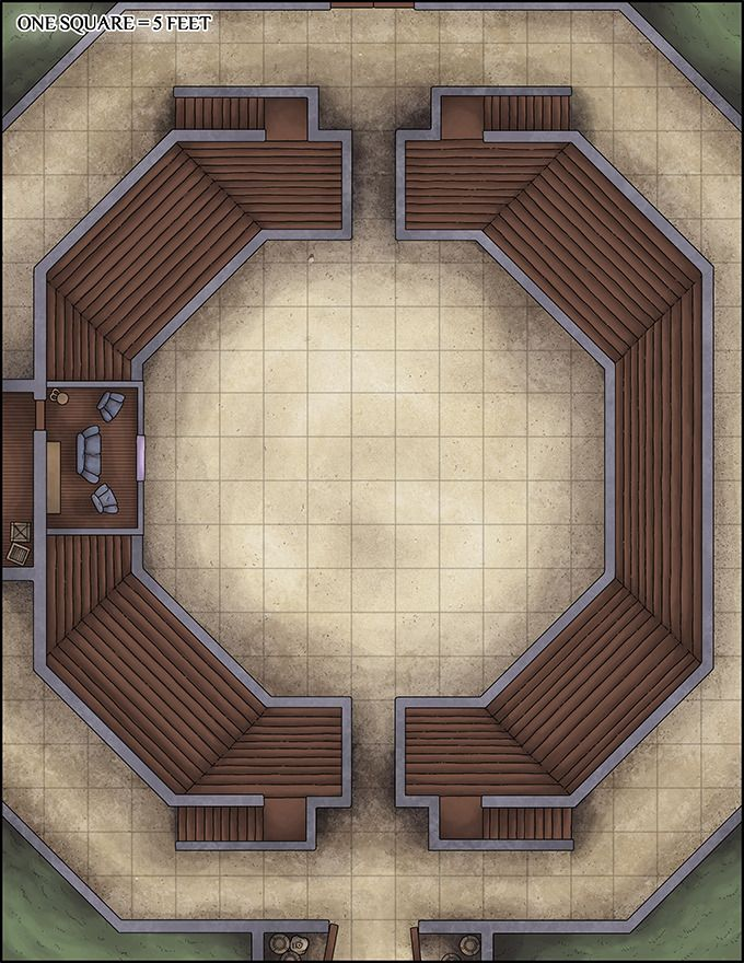 Arena Dnd Map : arena, Gladiator, Arena, Dungeon, Maps,, Tabletop, Building