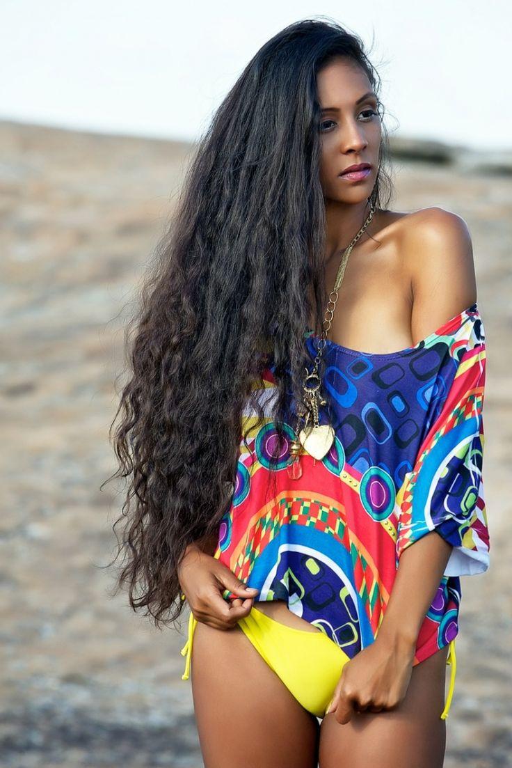 hip/tailbone length #hair with beach waves.