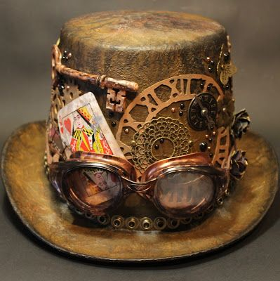 Bella's Scrappin' Space: Another Steampunk Hat Tutorial with a Mad Hatter theme!