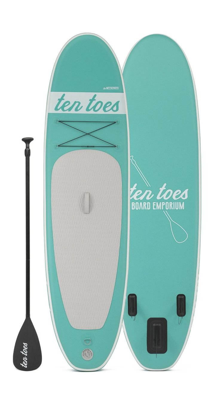 Ten Toes Board Emporium - theWEEKENDER 10' Inflatable Standup Paddle Board Seafoam,