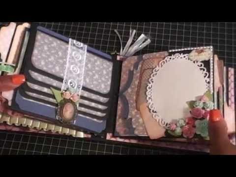 ▶ Shabby chic mini album swap with Crafty Malika - YouTube