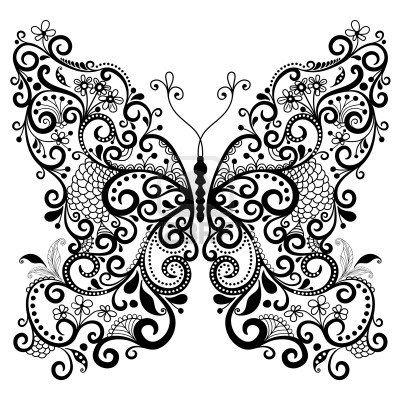 Décoratif fantaisie papillon dentelle vintage