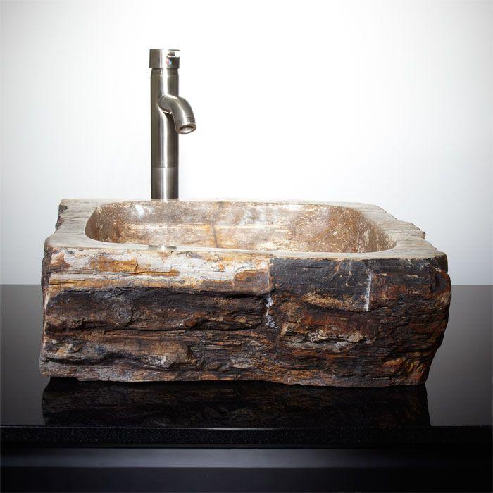 Easthill Petrified Wood Vessel Sink  | followpics.co