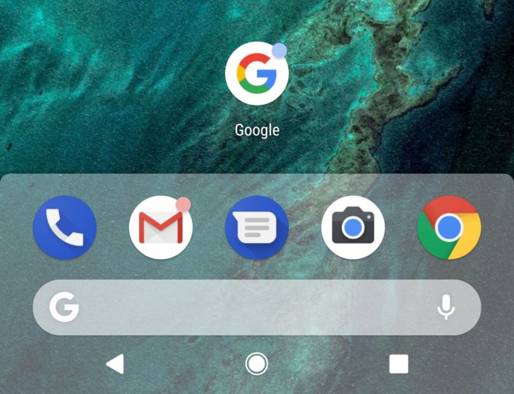 [Update: Mic icon] Android P feature spotlight: The Pixel Launchers dock is now shaded (APK Download)