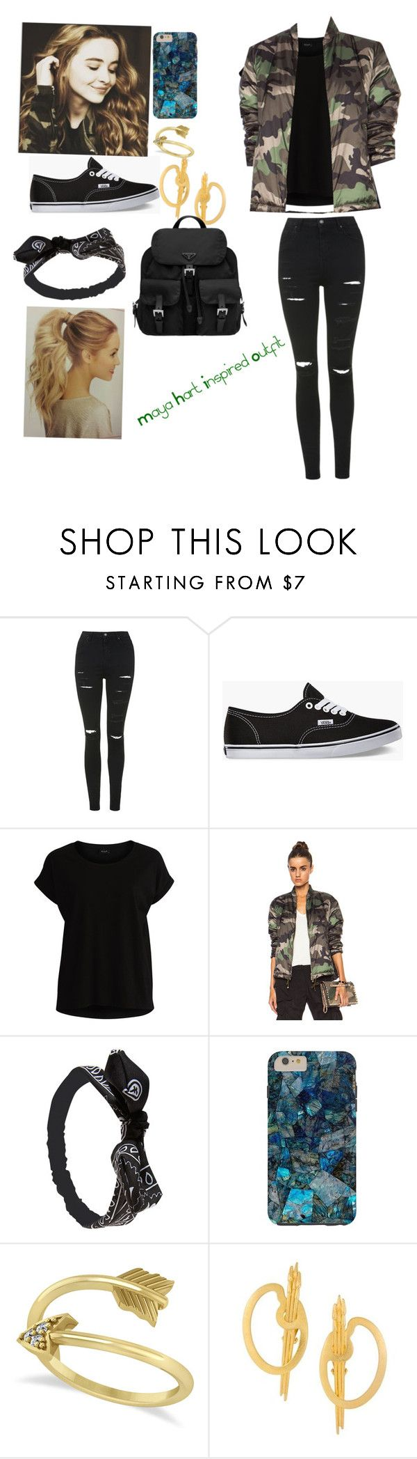 """Maya Hart Inspired Outfit- Girl Meets World"" by booknerdjaime16 ❤ liked on Polyvore featuring Topshop, Vans, VILA, Valentino, Wet Seal, Allurez, Karl Lagerfeld and Prada"