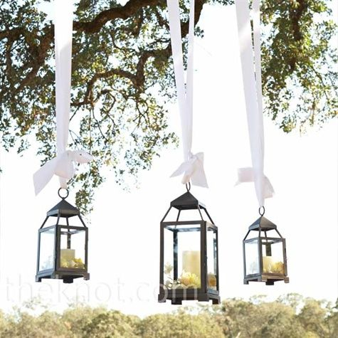 I'm such a sucker for lanterns!...maybe hang them around tent dance floor or in the trees???
