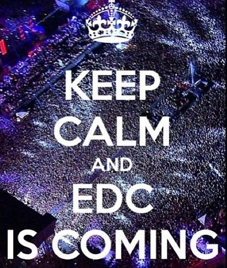 To some this looks like hell... to me it no place I'd rather be :) #edc2014 I'm comming!