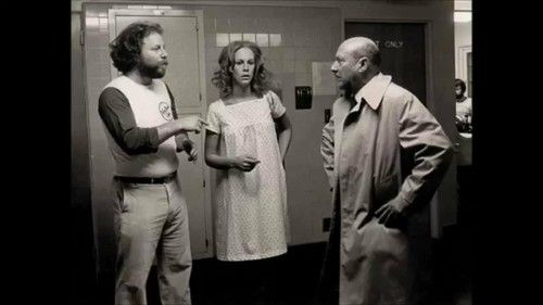 Behind-the-scenes photo with director Rick Rosenthal, Jamie Lee Curtis & Donald Pleasence... Halloween II (1981), March 2017