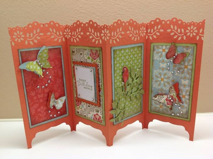 Folding Screen - Oriental by Chinnu - Cards and Paper Crafts at Splitcoaststampers
