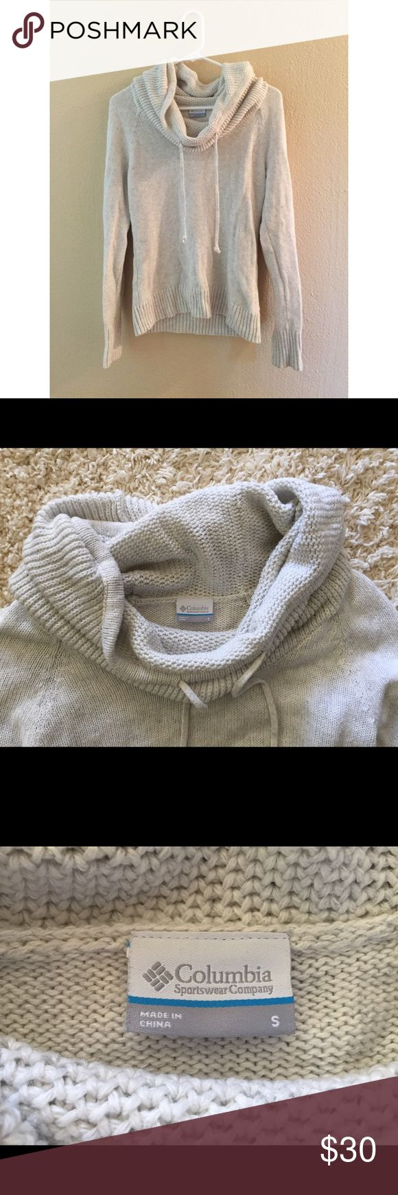 Columbia Sportswear Company Knit Sweater Perfect for fall. Cowl neck with pull strings. Columbia Sweaters Cowl & Turtlenecks